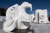 Mexikói csapat nyerte a nemzetközi hó szobor építõ bajnokságot